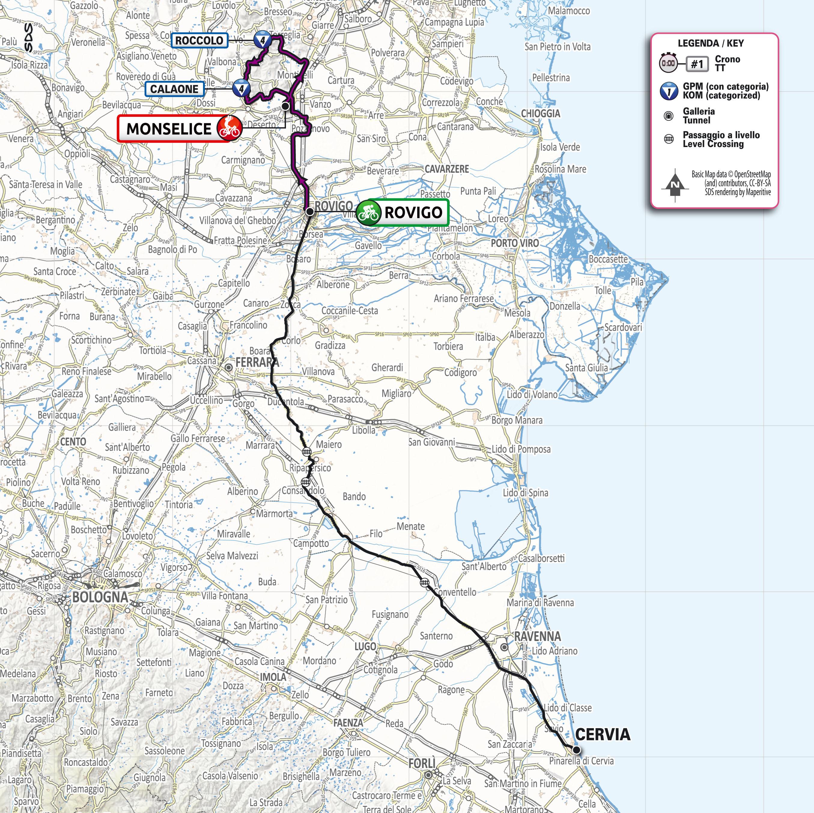 Cartina Dell Italia Rovigo.Tappa 12 Giro E